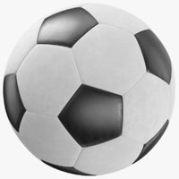3D real soccer ball