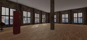 3D rooms windows door