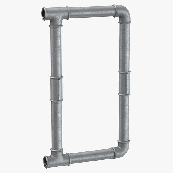 galvanized steel pipe letter 3D