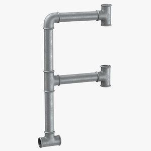 galvanized steel pipe letter model