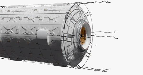 3D space ship station module model