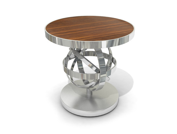3D chrome coffee table
