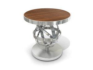 3D chrome coffee table