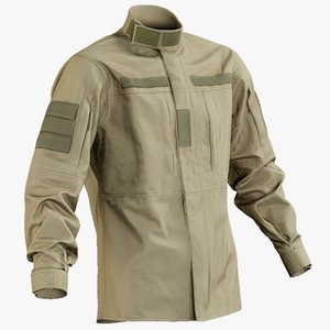 3D realistic military jacket desert model