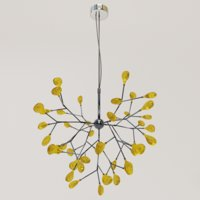 3D stylish heracleum lamp