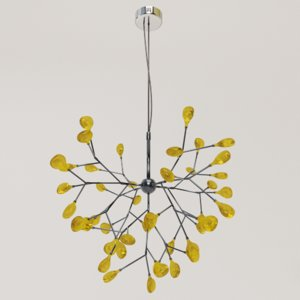 3D stylish heracleum lamp