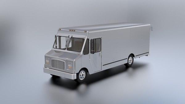 3D boxvan van