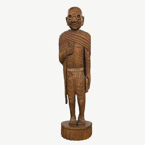 sculpture gandhi model