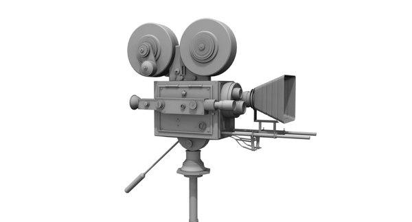 3D old movie camera