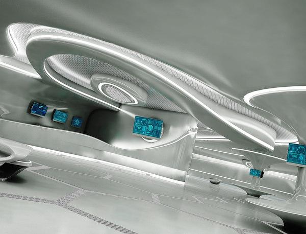 3D sci-fi exhibition room design