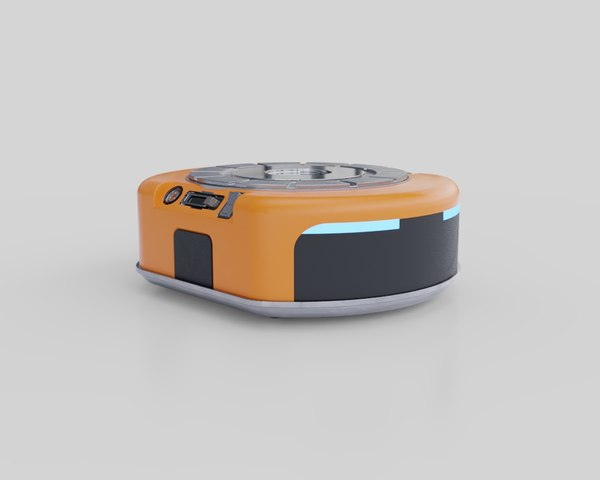 3D model warehouse robot automated guided