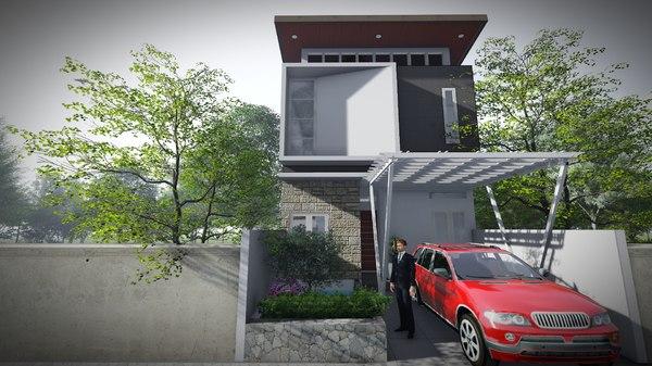 modern house design 3D model