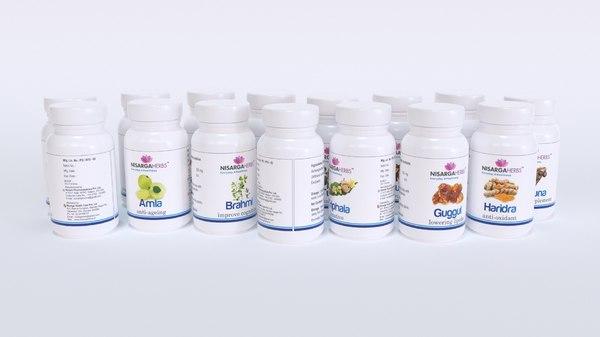 3D medicine bottles vitamins