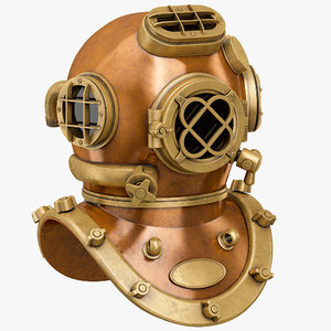 diving helmet v 3D