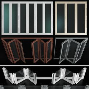 3D folding stained glass aluminum model