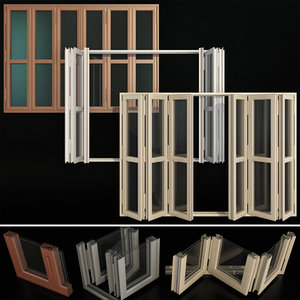 3D folding stained glass aluminum