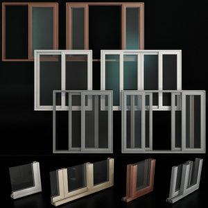 3D sliding stained glass aluminum model