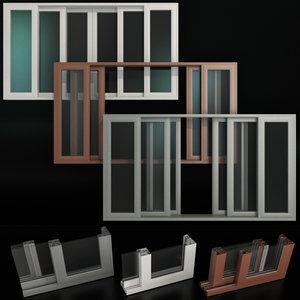 3D sliding stained glass aluminum