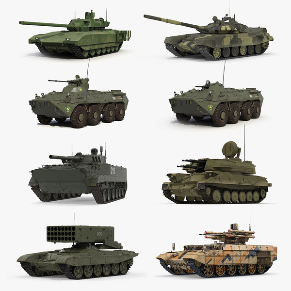3D model russian tanks 2