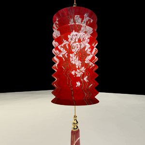 chinese red 3D model