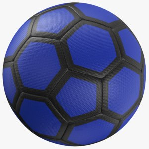 3D real soccer ball model