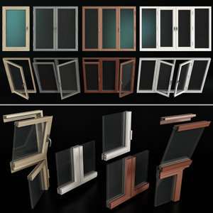 3D stained glass windows model