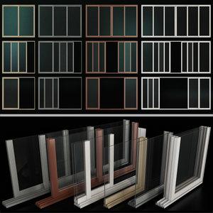 sliding stained glass aluminum model