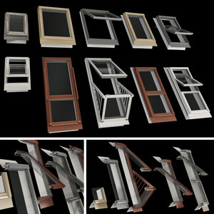 roof windows mansard 3D model