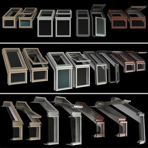 3D roof windows mansard