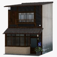 old kyoto townhouse building 3D model