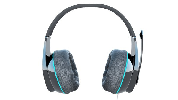 3D headset head model