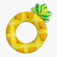 3D ring pineapple model