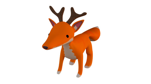 3D fox deer