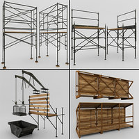 scaffolding structures construction 3D