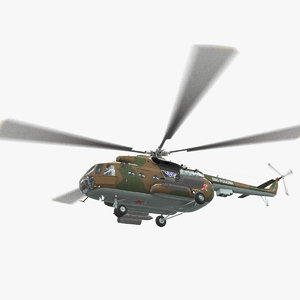 mi-8mt russian animation 3D