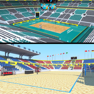 volleyball stadiums arena 3D model