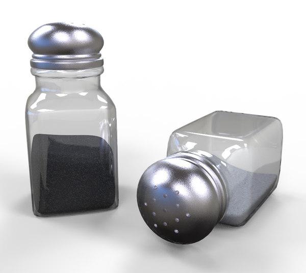 salt pepper shaker 3D model