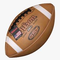 3D american football ball wilson model