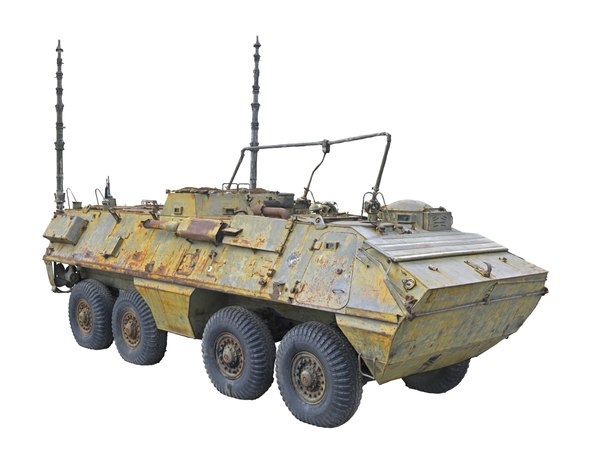 old russian military armored car 3D model