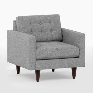 3D joybird eliot apartment chair