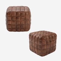 Casa Padrino Genuine Leather Stool Brown