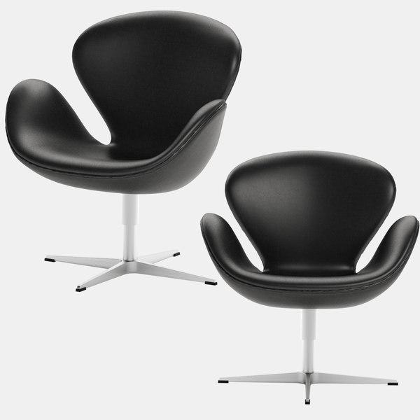 swan chair arne jacobsen 3D model