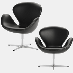 swan chair arne jacobsen 3D model