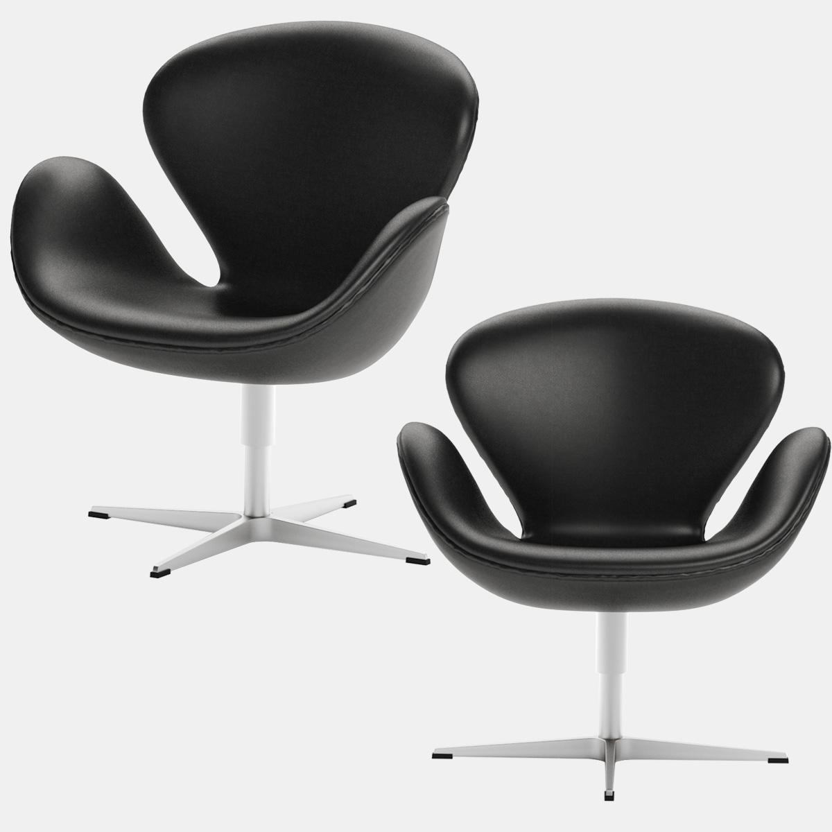 Strange Swan Chair Arne Jacobsen Fritz Hansen Black Leather Evergreenethics Interior Chair Design Evergreenethicsorg
