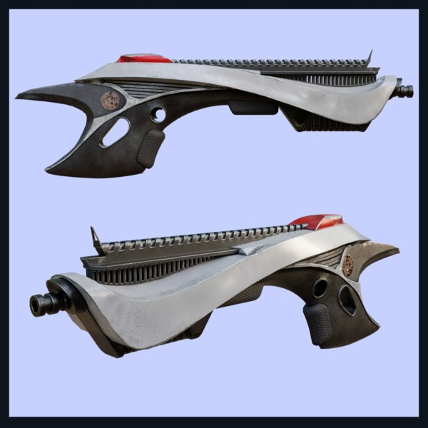 sci-fi style weapon 3D