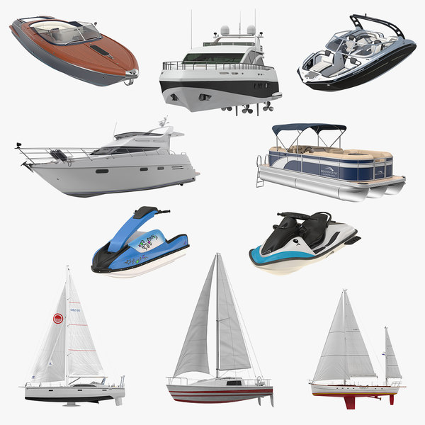 recreational boats 4 3D model