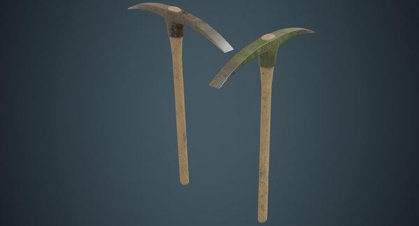 3D pickaxe 2b