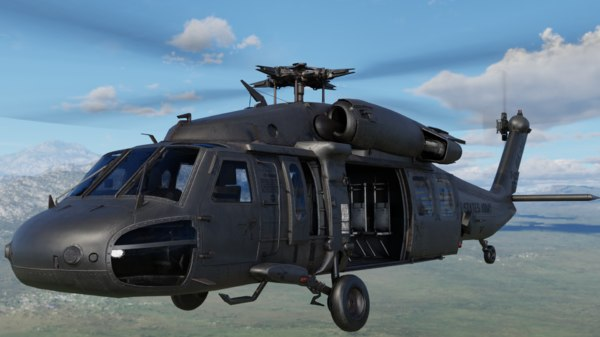 sikorsky uh-60 black hawk 3D model