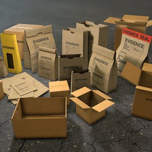 3D evidence packages boxes