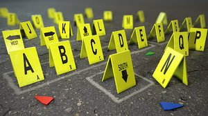 signs marks crime scene model